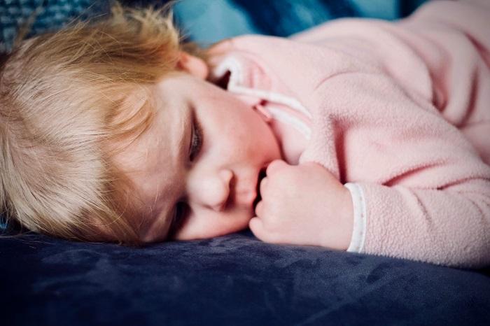 Toddler lying down